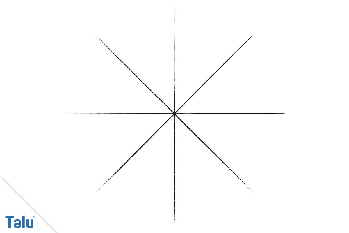 Spinnen-Netz selber malen