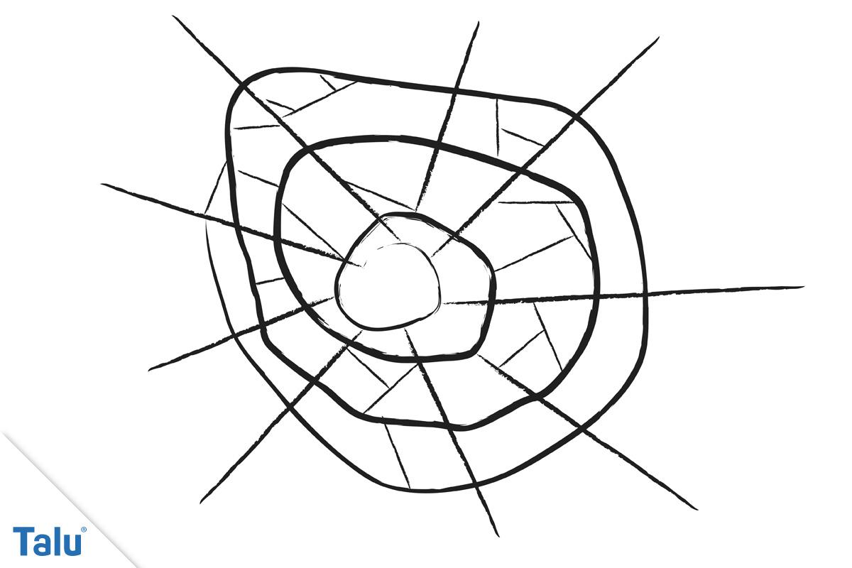 einfaches Spinnennetz Vorlage
