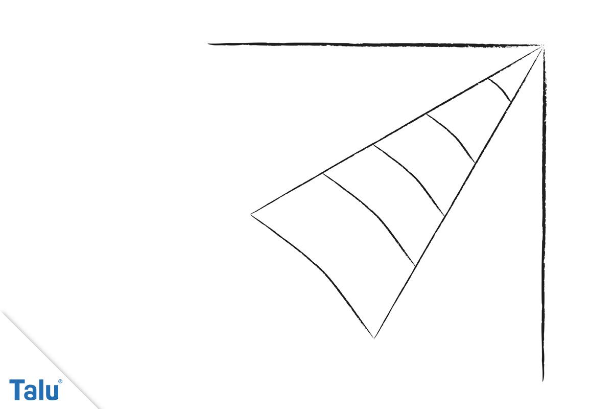 Spinnennetz malen - Ecke 3