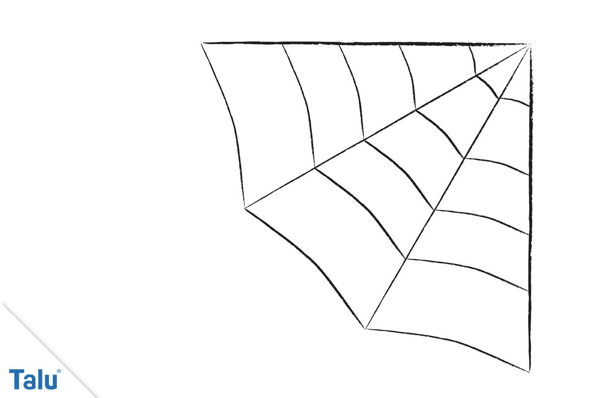 Spinnennetz malen - Ecke 4