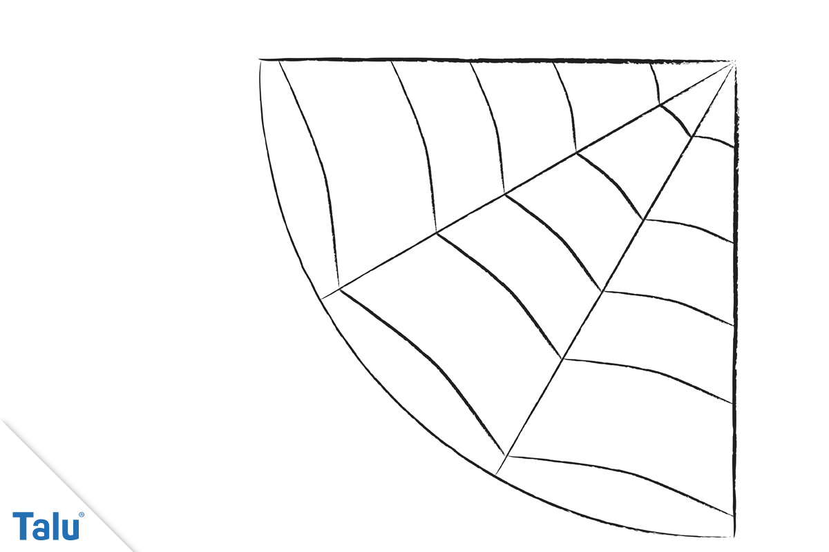 Spinnennetz malen - Ecke 5