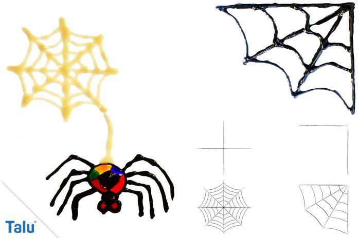 Spinnennetz malen