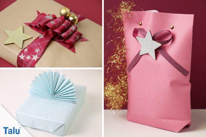 weihnachtsgeschenke verpacken anleitung tipps zum. Black Bedroom Furniture Sets. Home Design Ideas