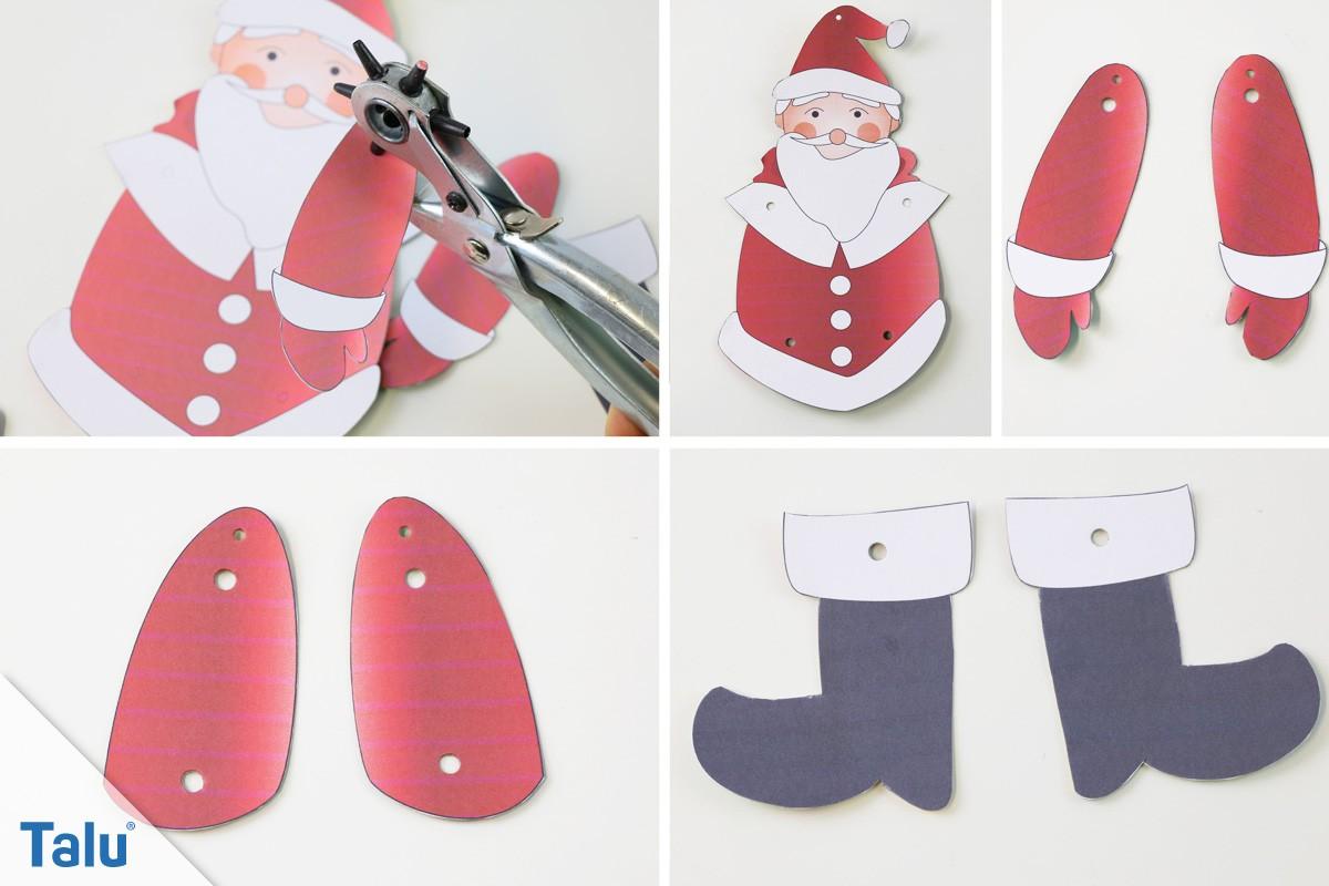 Weihnachts-Hampelmann basteln