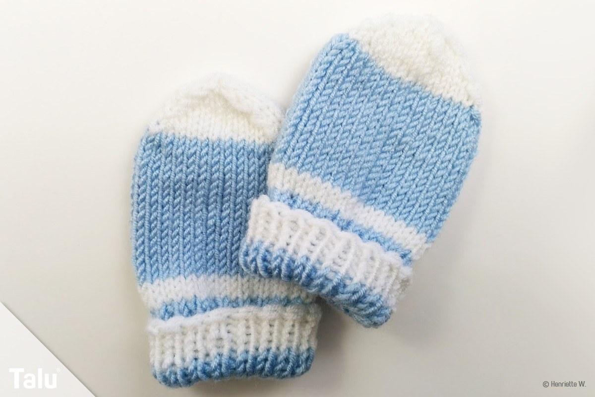 Gut gemocht Babyhandschuhe stricken - Anleitung für Baby Fäustlinge - Talu.de IA82