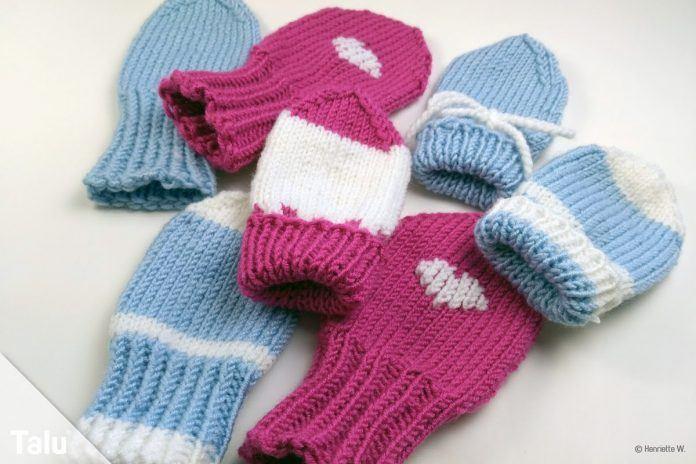 Babyhandschuhe Stricken Anleitung Für Baby Fäustlinge Talude