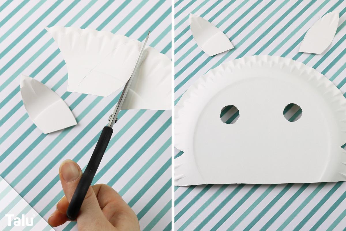Kindermasken aus Pappteller