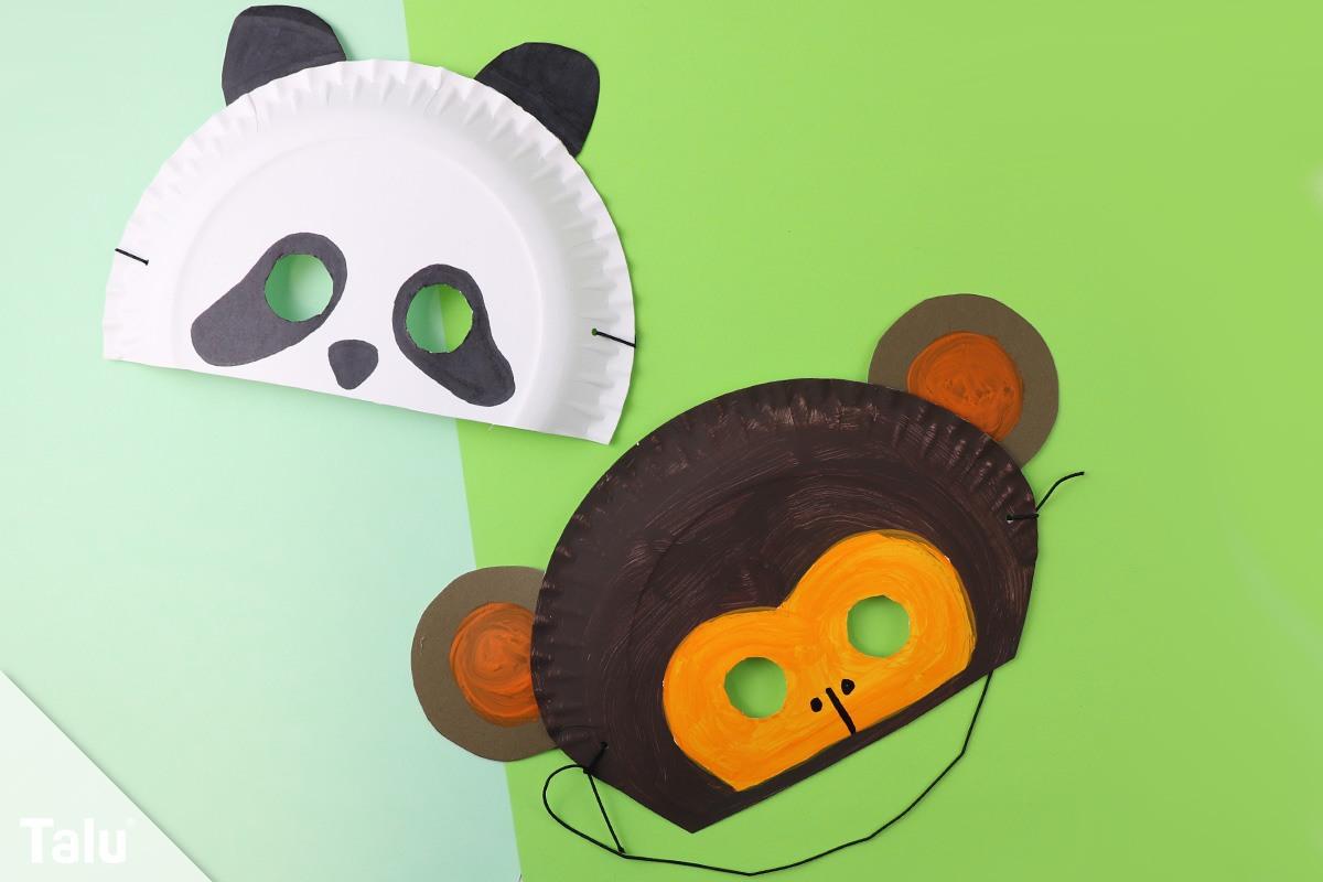 Faschingsmasken Basteln Anleitung Kindermasken Aus Pappteller