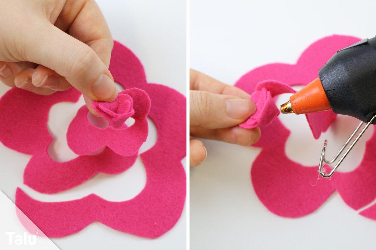 filzblumen selber machen ideen f r h bsche blumen aus filzwolle. Black Bedroom Furniture Sets. Home Design Ideas
