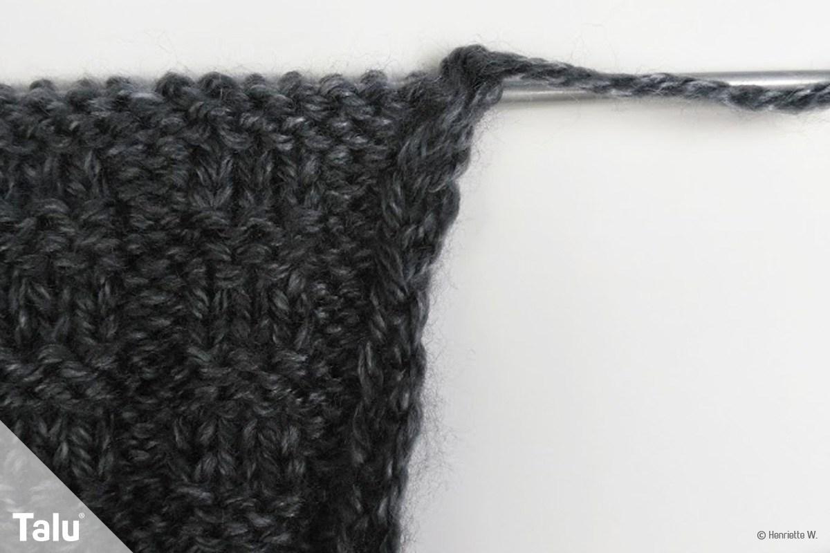 Randmaschen stricken