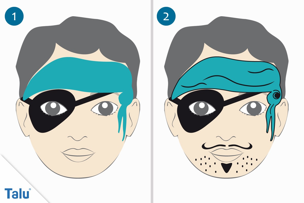 Kinderschminken Pirat erste Schritte