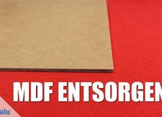 MDF-Platten entsorgen