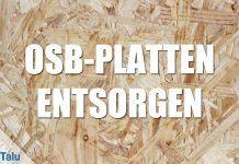 OSB-Platten entsorgen