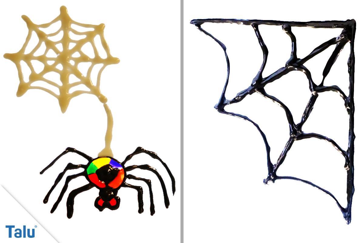 Spinnennetz basteln mit Windowcolor