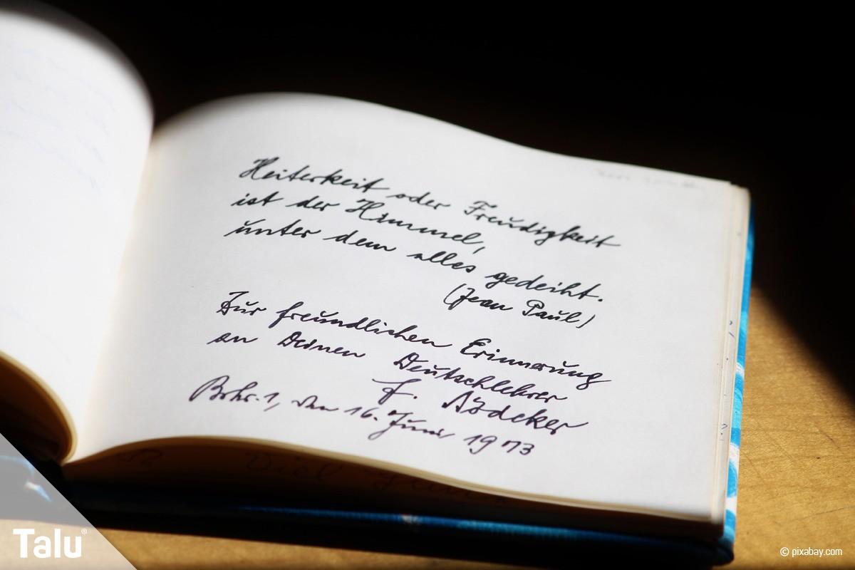 Schone Spruche Die Man Unter Bilder Schreiben Kann.Spruche Fur Das Poesiealbum 45 Lustige Und Kreative Ideen