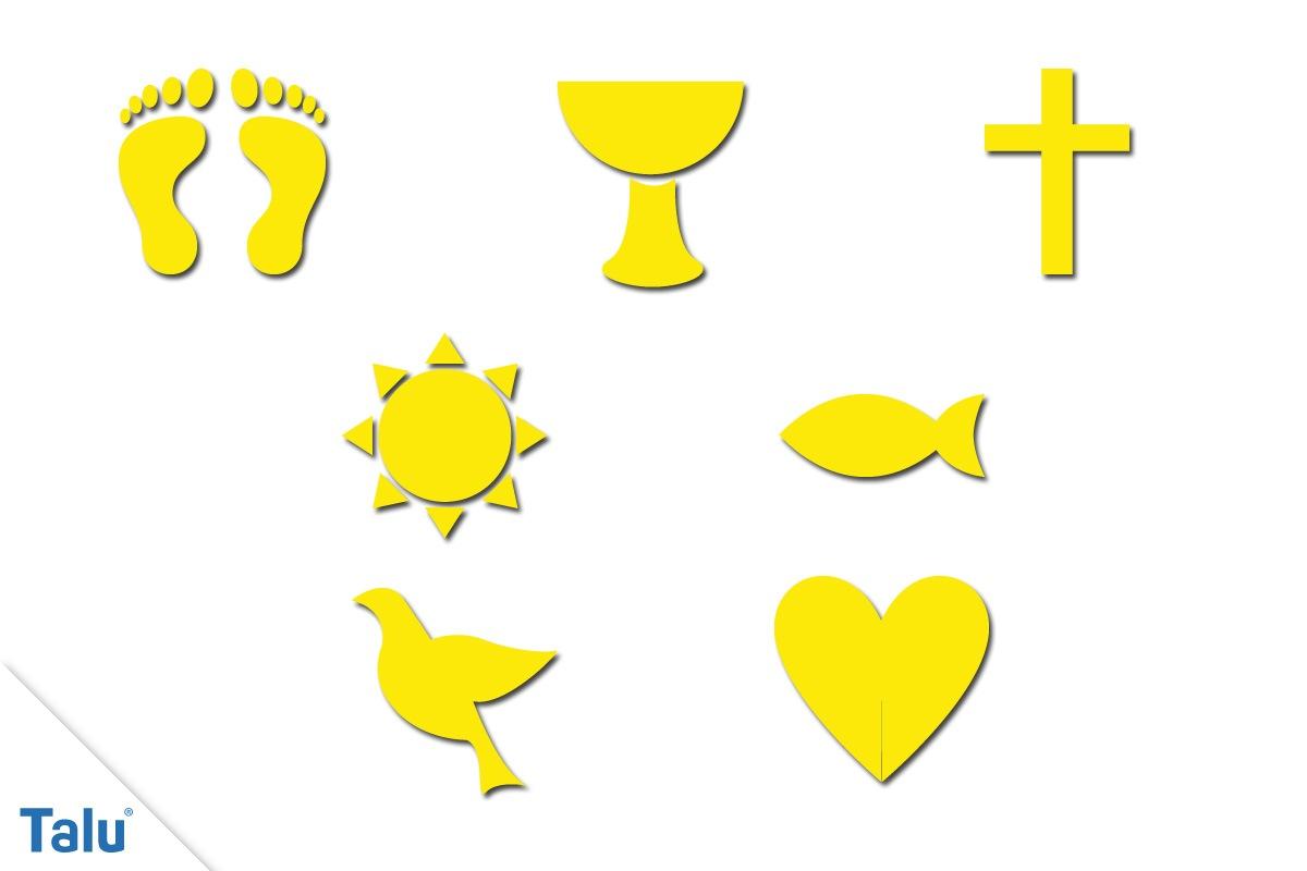 Vorlagen für Taufkerzen