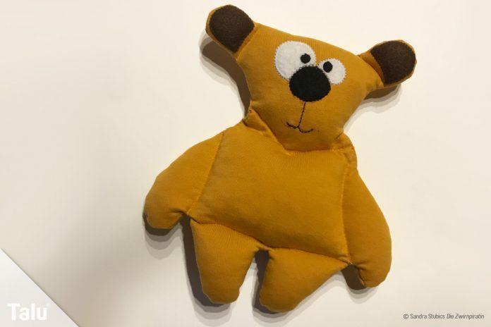 Teddybären selber nähen - Anleitung + kostenloses Schnittmuster ...