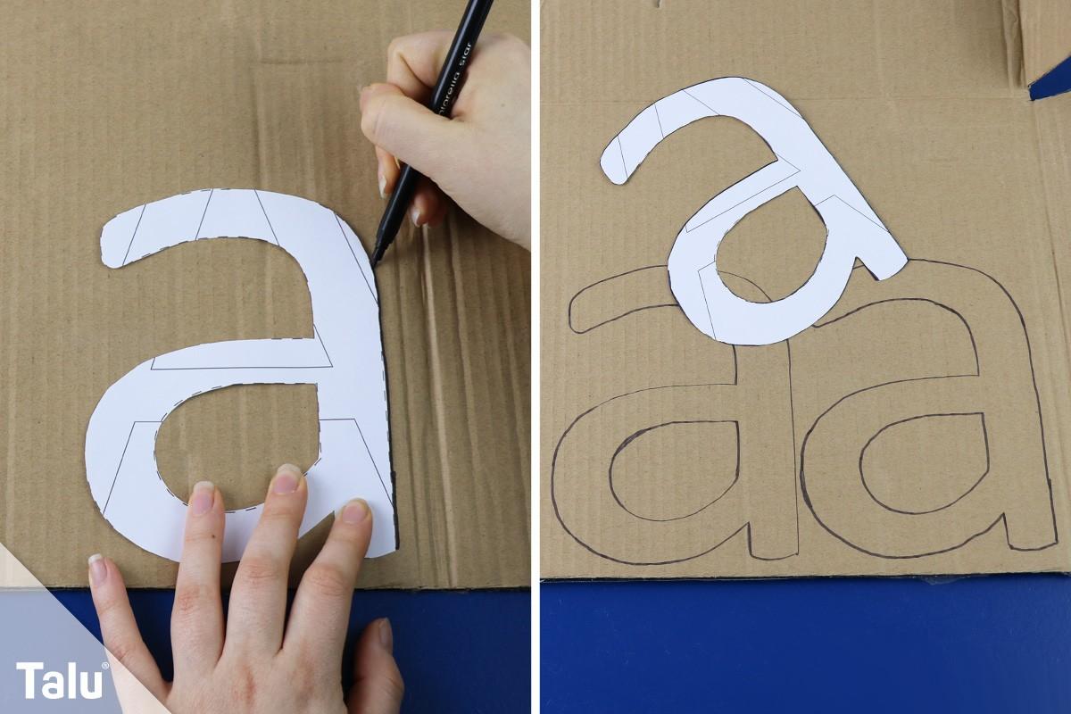 Hervorragend 3D Buchstaben selber basteln – Anleitung und Vorlagen - Talu.de ZX41