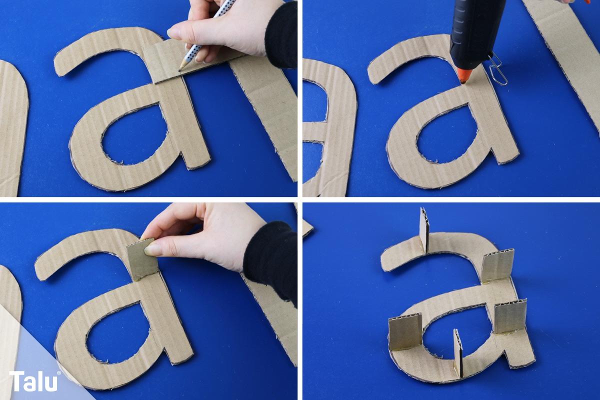 Extrem 3D Buchstaben selber basteln – Anleitung und Vorlagen - Talu.de KZ07