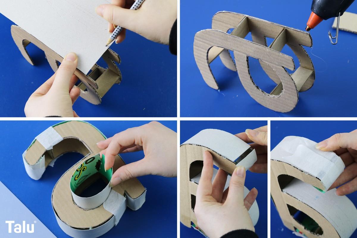 Bevorzugt 3D Buchstaben selber basteln – Anleitung und Vorlagen - Talu.de DH52