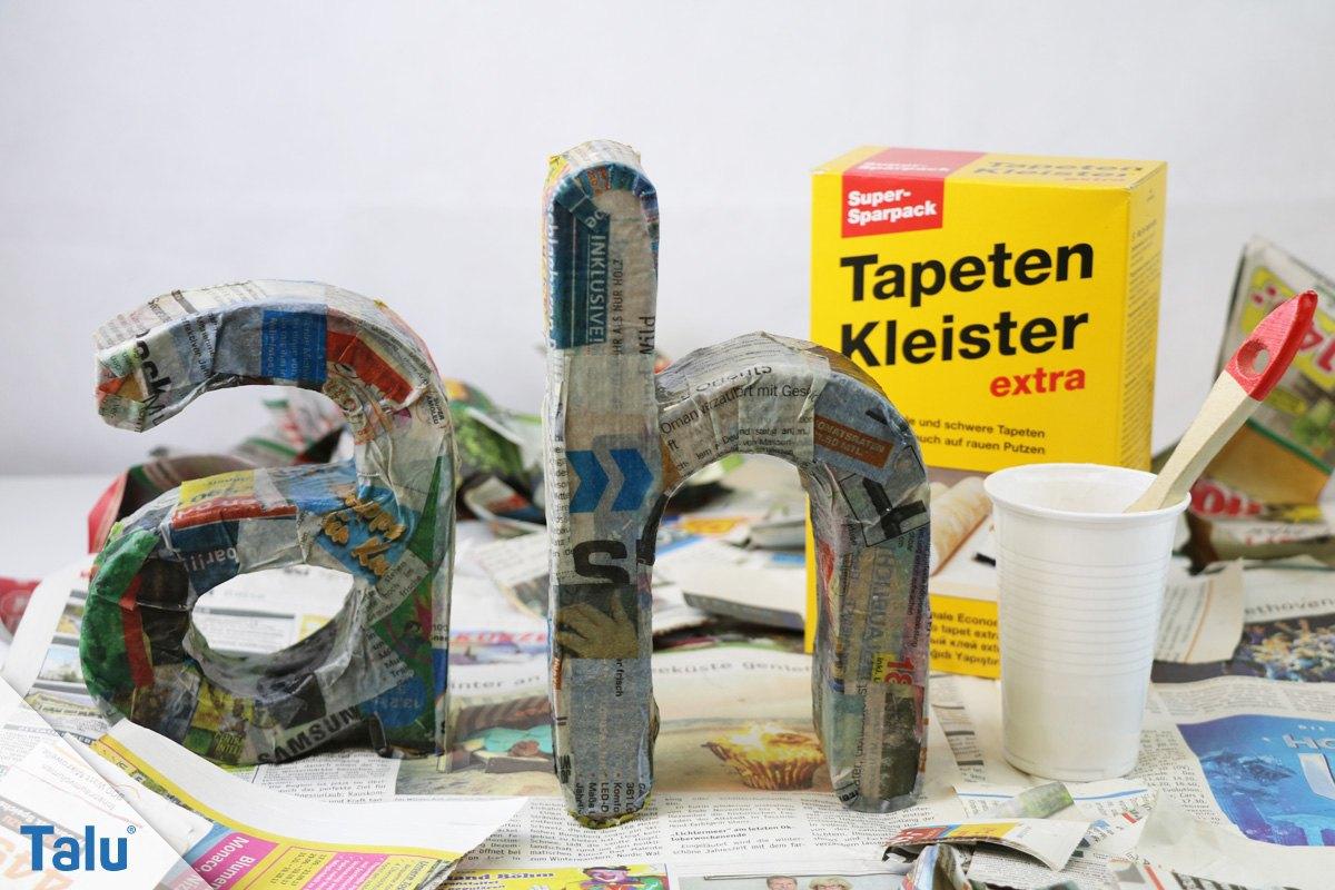 Hervorragend 3D Buchstaben selber basteln – Anleitung und Vorlagen - Talu.de LV88