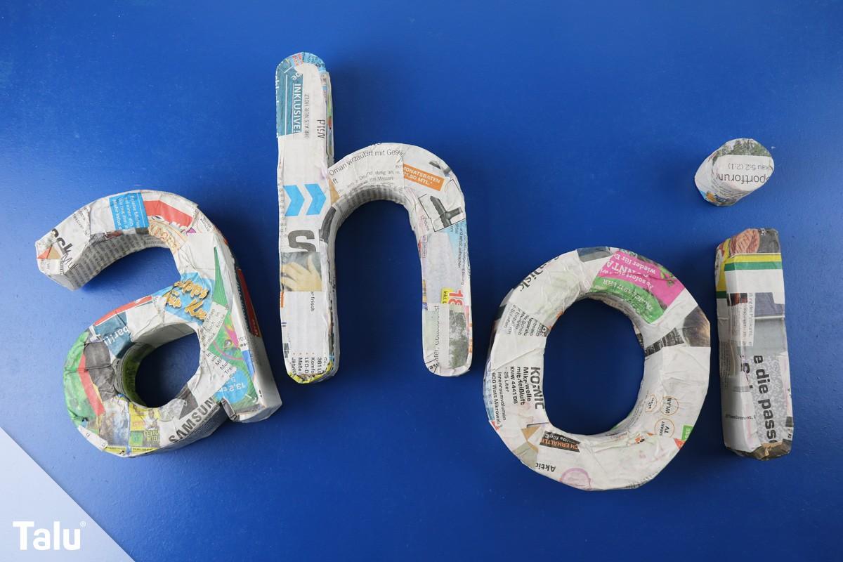 3D-Buchstaben basteln