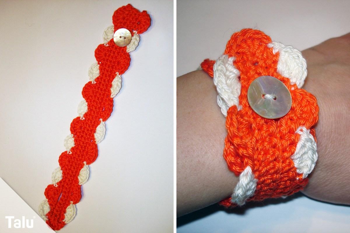Armband häkeln