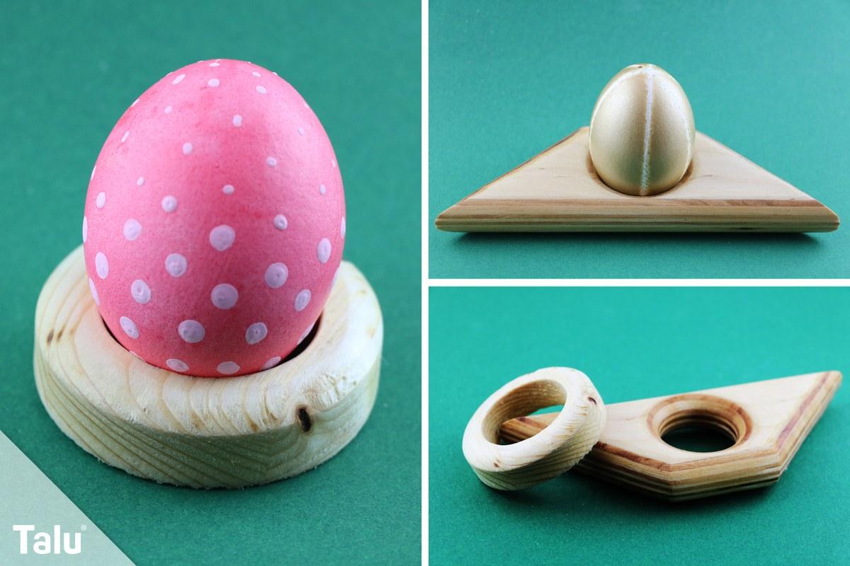 Eierbecher aus Holz