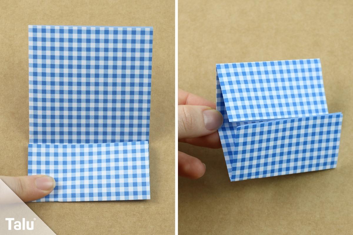 Origami Eierbecher basteln