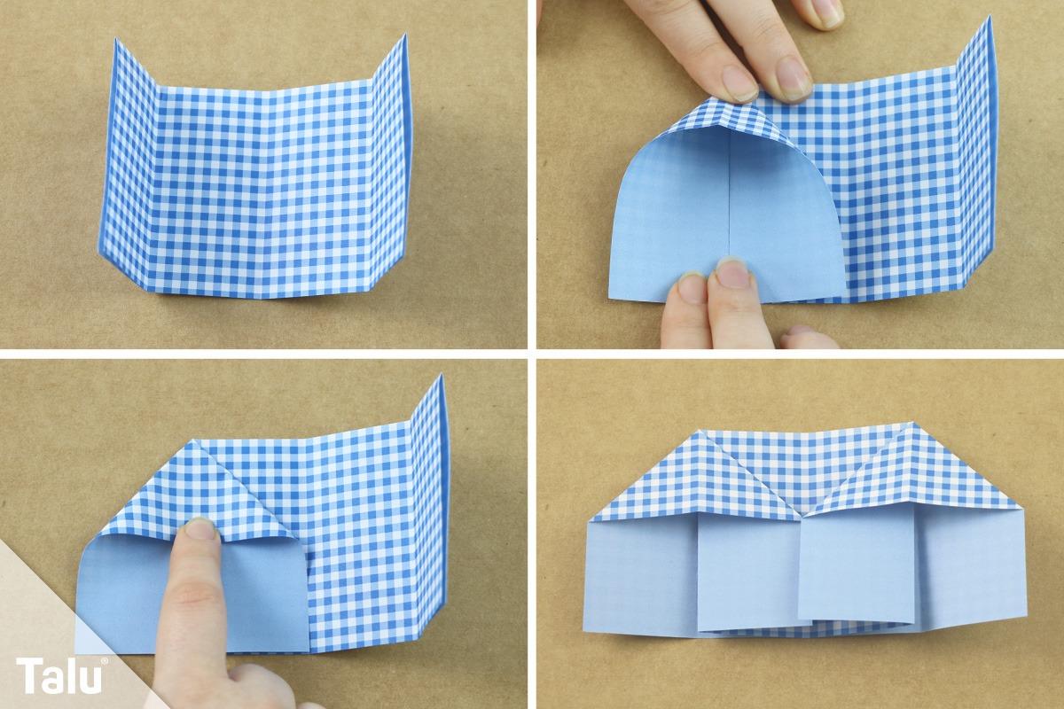 Origami-Eierbecher falten