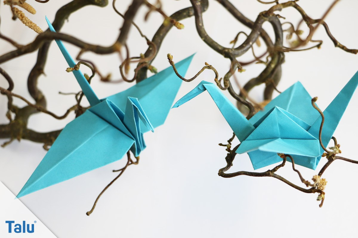 Origami-Kranich falten