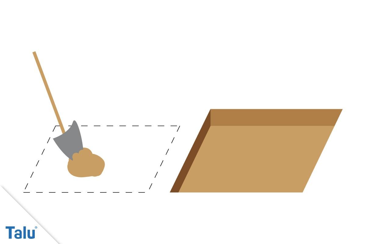 Fundament für Räucherofen
