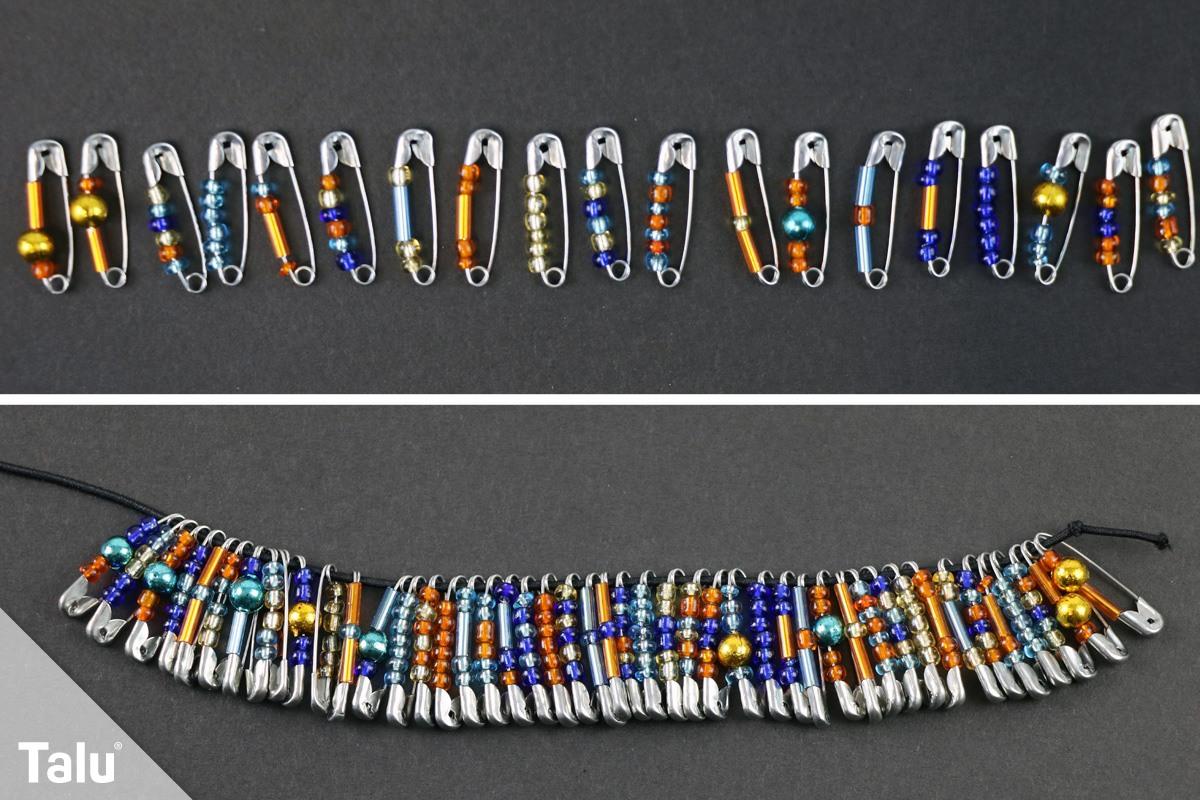 armband mit rocailles perlen - Perlen Weben Muster