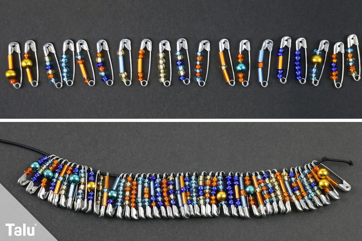 Armband mit Rocailles-Perlen