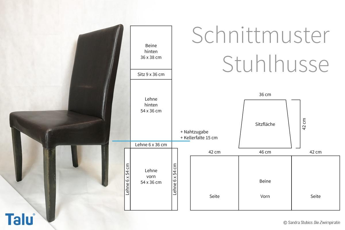 stuhlhussen n hen anleitung und schnittmuster f r einen stuhlbezug. Black Bedroom Furniture Sets. Home Design Ideas