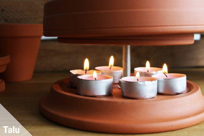 teelichtheizung kerzenofen anleitung f r eine diy tontopf heizung. Black Bedroom Furniture Sets. Home Design Ideas