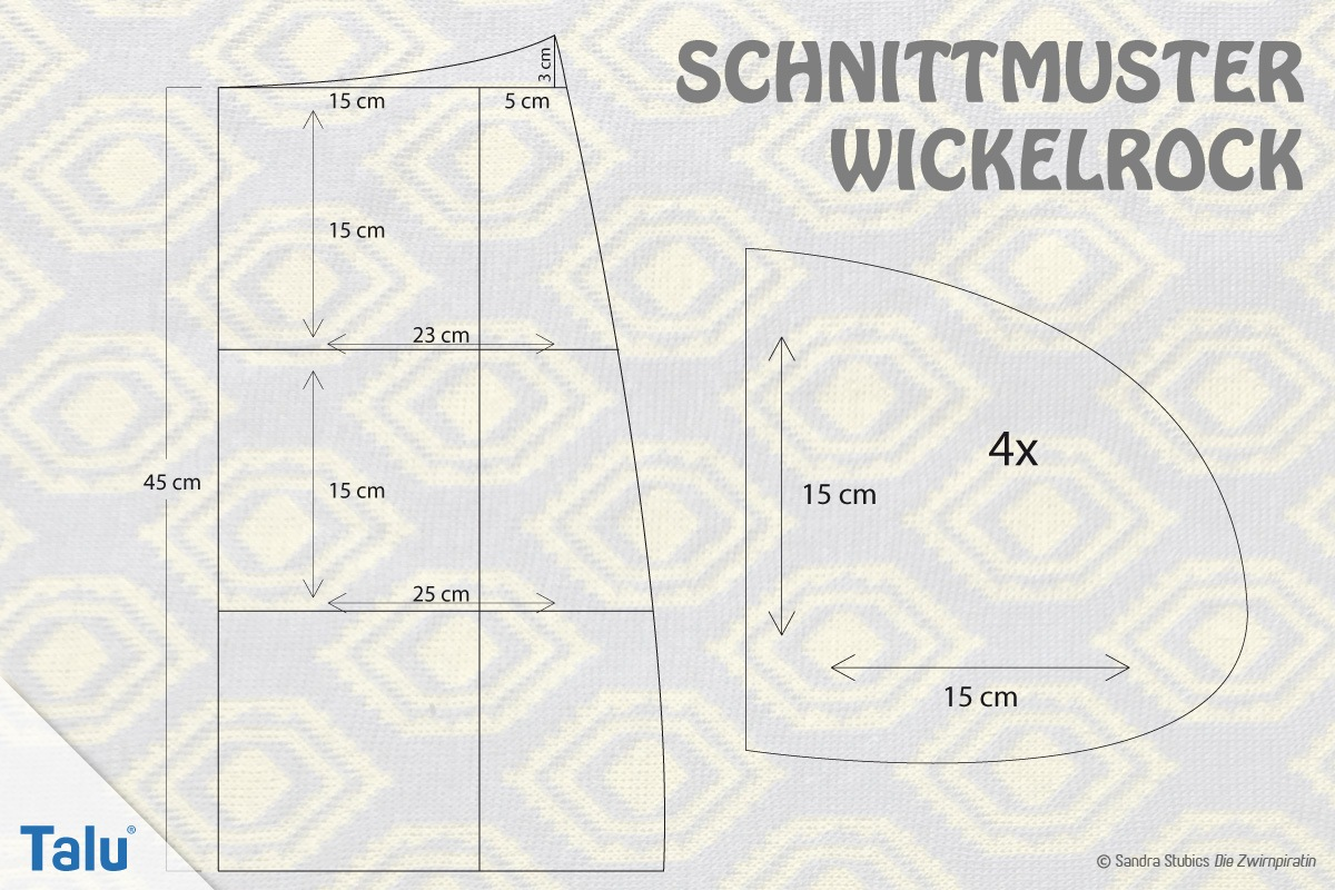 Schnittmuster für Wickelrock