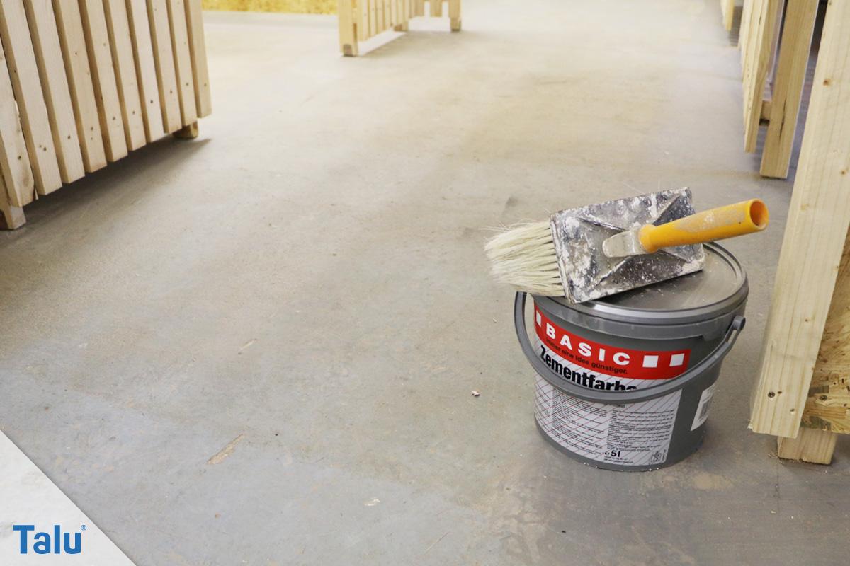 Berühmt Kellerboden sanieren - Betonboden richtig streichen - Talu.de AC62