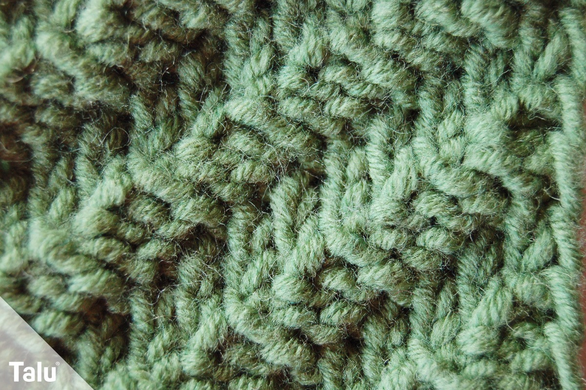 Diagonale Rippen stricken