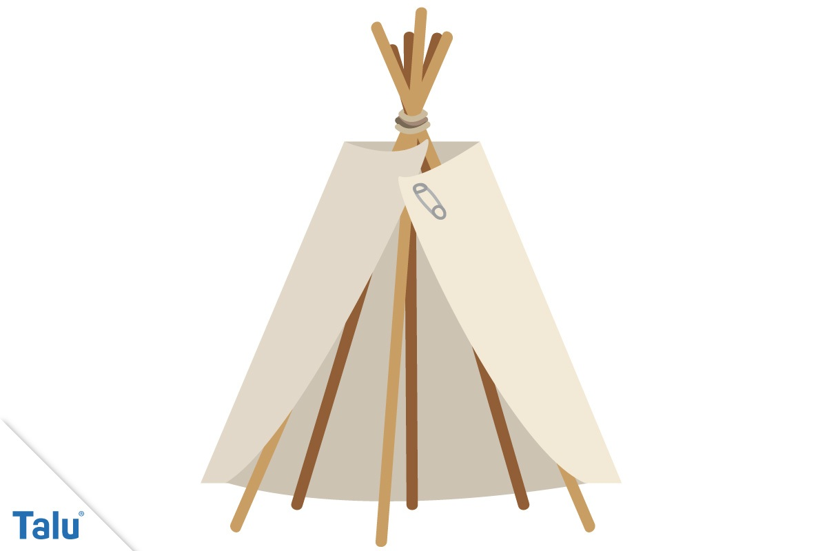 tipi selber bauen ohne n hen bauanleitung f r. Black Bedroom Furniture Sets. Home Design Ideas