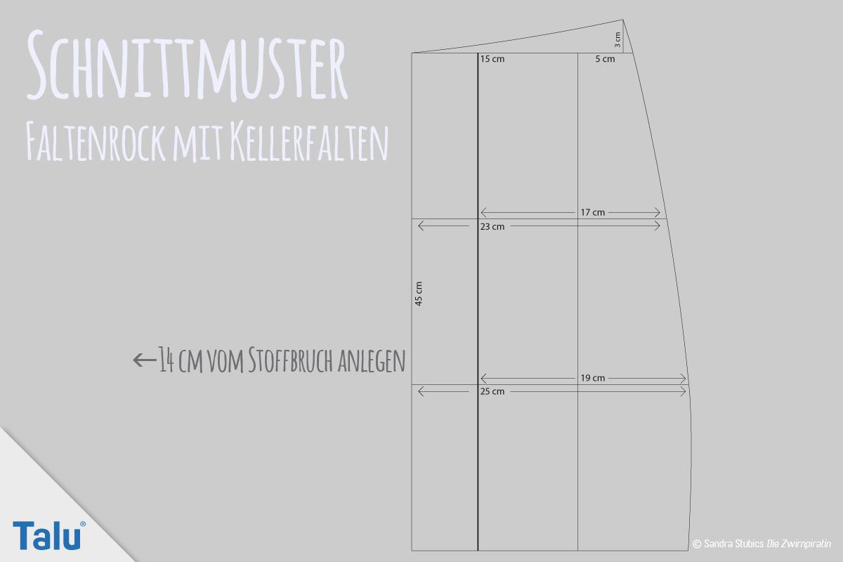 Faltenrock nähen - einfache kostenlose Anleitung für Anfänger - Talu.de
