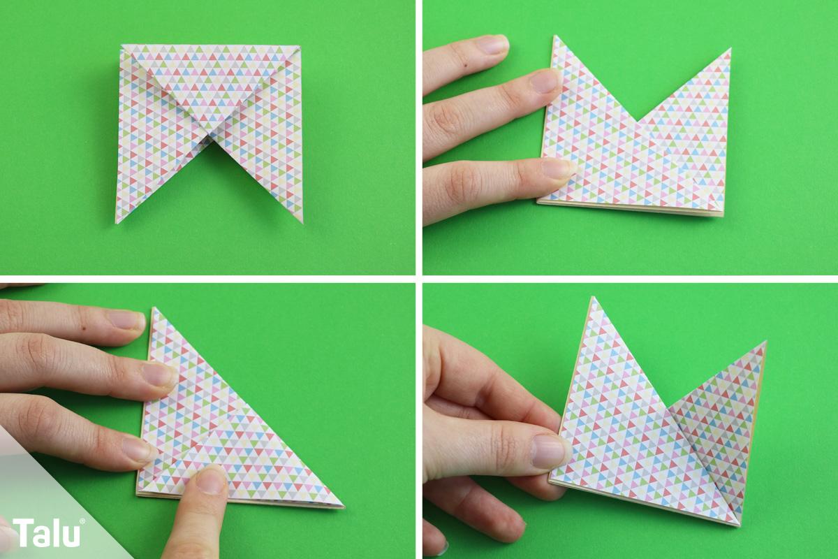 Origami-Blüte falten