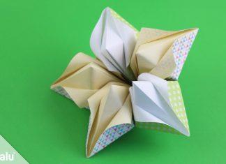 Origami Blüte falten