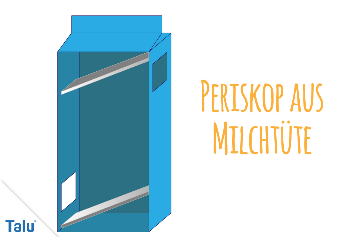 Periskop aus Milchtüte