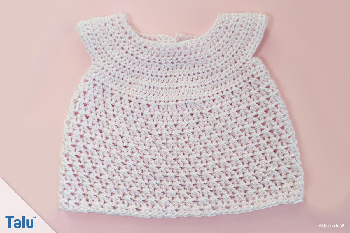 Babykleid Häkeln Anleitung Für Ein Babykleidchen Talude