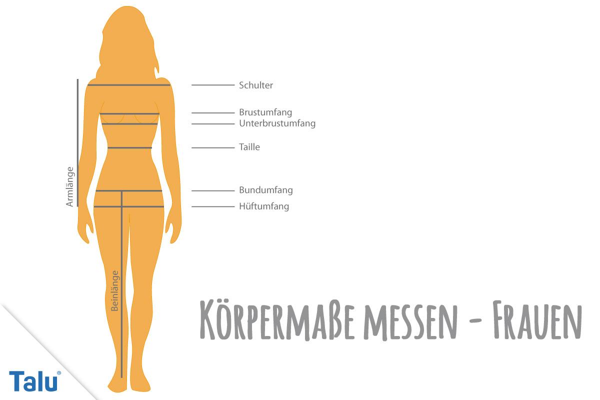 körpermaße messen: brust, taille und hüfte bei mann und frau - talu.de