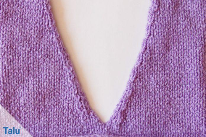 V Ausschnitt Stricken Anleitung Für Spitzen Halsausschnitt Talude
