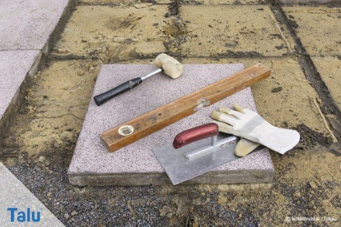 Gehwegplatten Verlegen DIYAnleitung Und Preise Für Betonplatten - Preis gehwegplatten 40x40