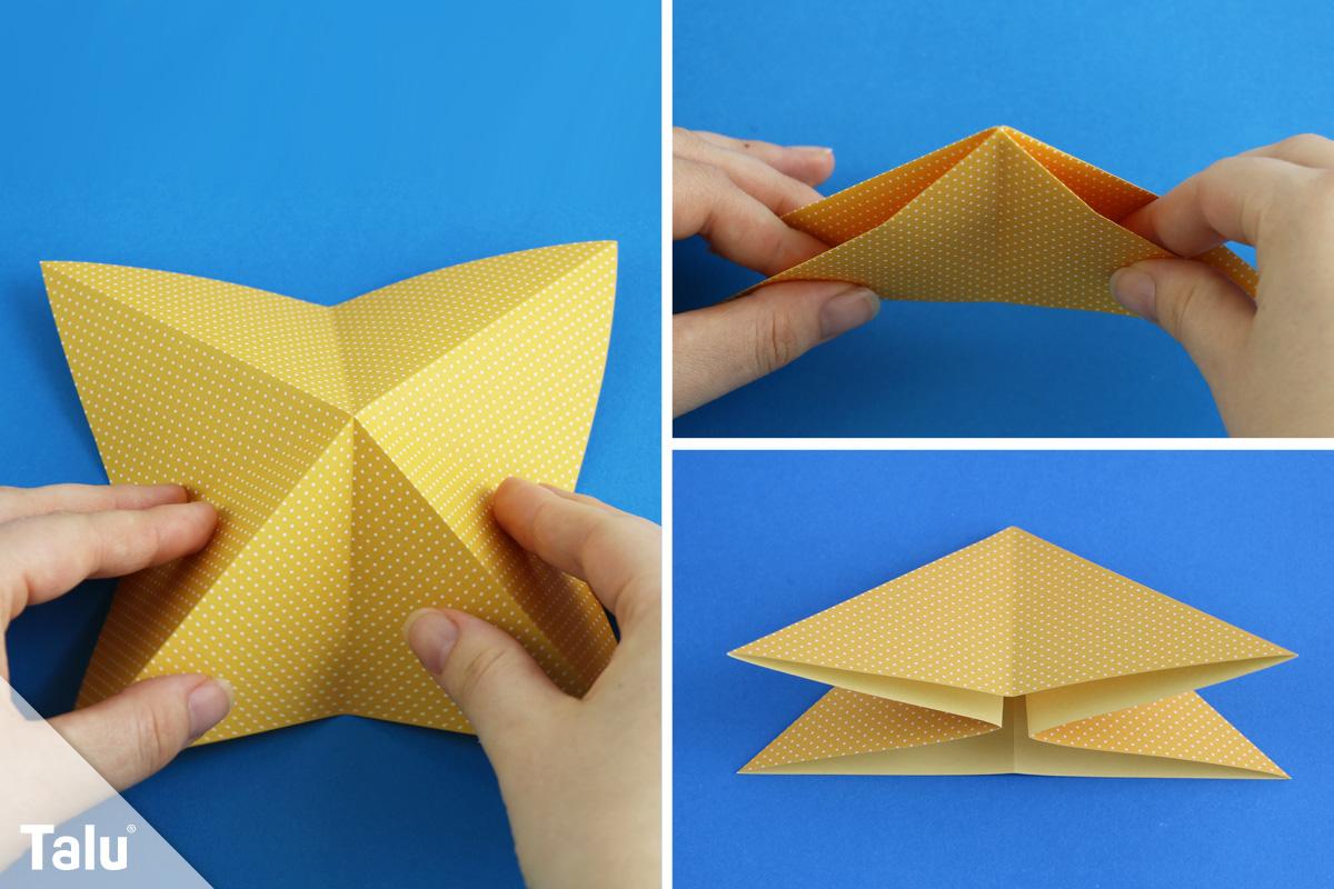 Origami-Krebs falten