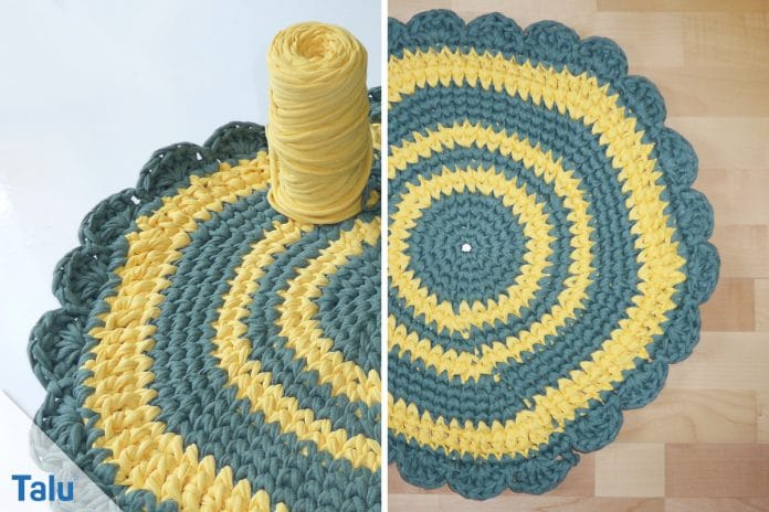 Teppich Häkeln Anleitung Runder Teppich Aus Textilgarn Talude
